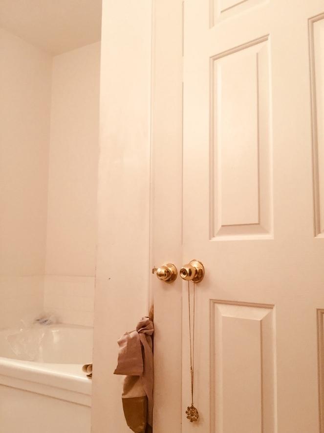Bathroom Door and Tub